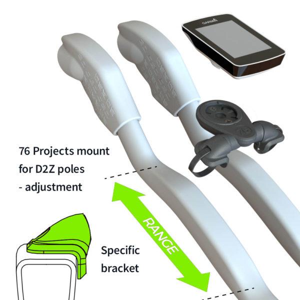 76 Projects mount for D2Z poles - adjustment