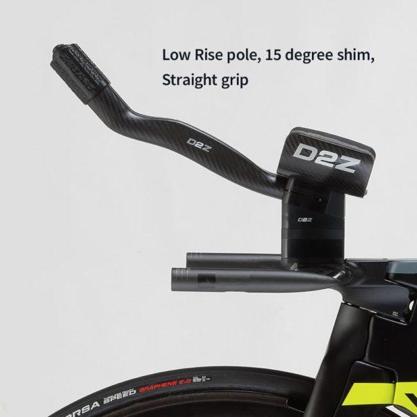 Low rise pole 15 degree shim straight grip