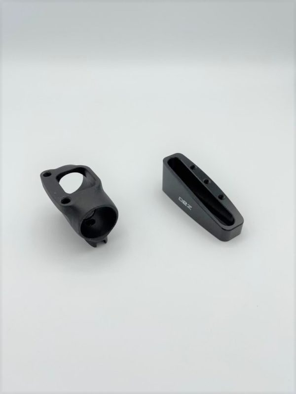 Long armrest shim (14deg) with appropriate pole clamp
